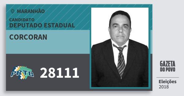 Santinho Corcoran 28111 (PRTB) Deputado Estadual | Maranhão | Eleições 2018