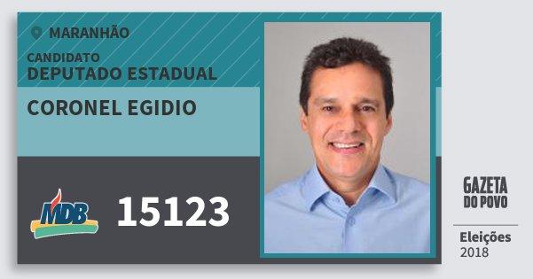 Santinho Coronel Egidio 15123 (MDB) Deputado Estadual   Maranhão   Eleições 2018