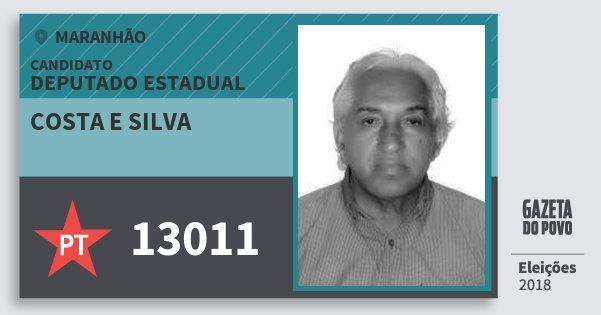 Santinho Costa e Silva 13011 (PT) Deputado Estadual | Maranhão | Eleições 2018