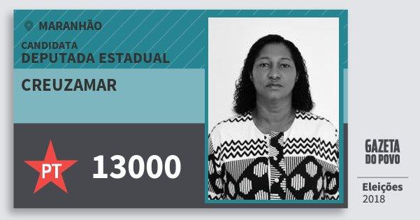 Santinho Creuzamar 13000 (PT) Deputada Estadual | Maranhão | Eleições 2018