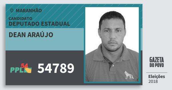 Santinho Dean Araújo 54789 (PPL) Deputado Estadual | Maranhão | Eleições 2018