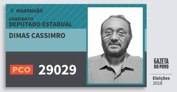 Santinho Dimas Cassimro 29029 (PCO) Deputado Estadual | Maranhão | Eleições 2018