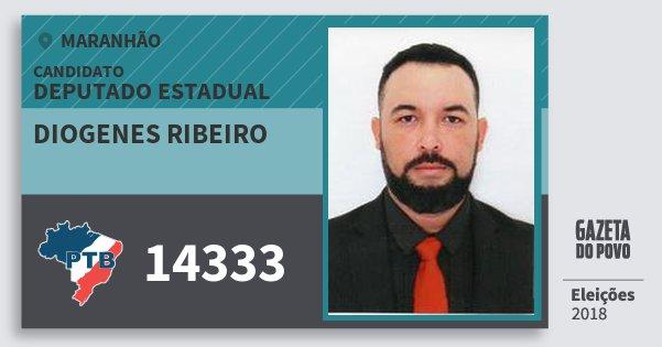Santinho Diogenes Ribeiro 14333 (PTB) Deputado Estadual | Maranhão | Eleições 2018