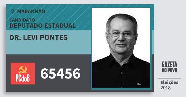 Santinho Dr. Levi Pontes 65456 (PC do B) Deputado Estadual | Maranhão | Eleições 2018