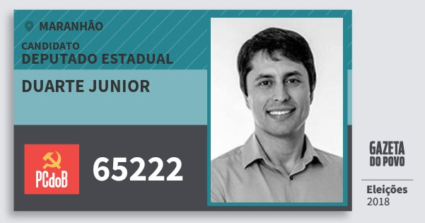 Santinho Duarte Junior 65222 (PC do B) Deputado Estadual   Maranhão   Eleições 2018