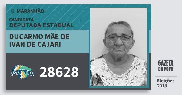 Santinho Ducarmo Mãe de Ivan de Cajari 28628 (PRTB) Deputada Estadual | Maranhão | Eleições 2018