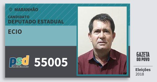 Santinho Ecio 55005 (PSD) Deputado Estadual | Maranhão | Eleições 2018