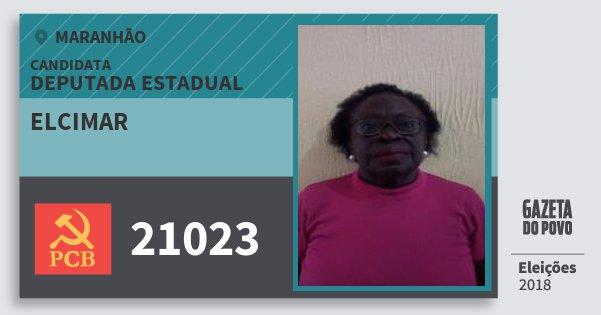 Santinho Elcimar 21023 (PCB) Deputada Estadual | Maranhão | Eleições 2018