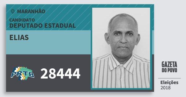 Santinho Elias 28444 (PRTB) Deputado Estadual | Maranhão | Eleições 2018