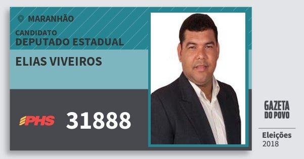 Santinho Elias Viveiros 31888 (PHS) Deputado Estadual | Maranhão | Eleições 2018