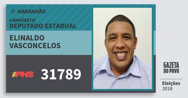 Santinho Elinaldo Vasconcelos 31789 (PHS) Deputado Estadual   Maranhão   Eleições 2018