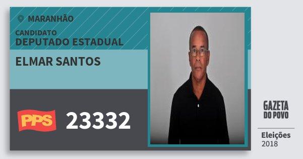 Santinho Elmar Santos 23332 (PPS) Deputado Estadual | Maranhão | Eleições 2018