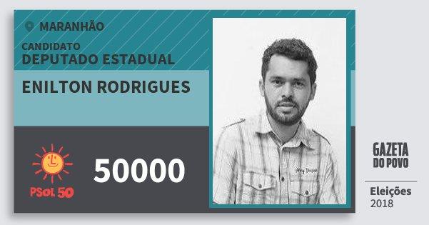 Santinho Enilton Rodrigues 50000 (PSOL) Deputado Estadual | Maranhão | Eleições 2018