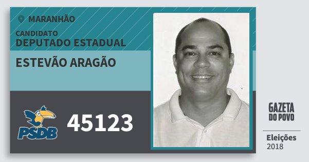 Santinho Estevão Aragão 45123 (PSDB) Deputado Estadual | Maranhão | Eleições 2018