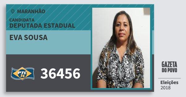 Santinho Eva Sousa 36456 (PTC) Deputada Estadual | Maranhão | Eleições 2018