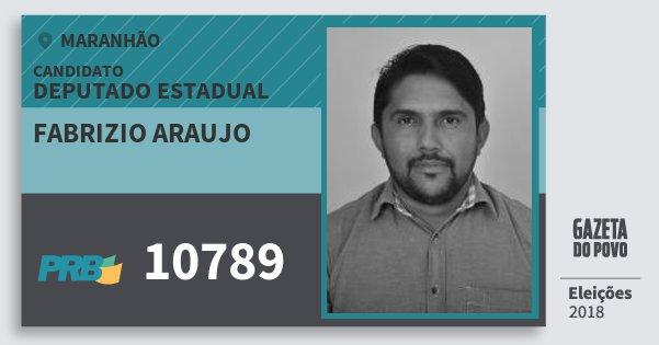 Santinho Fabrizio Araujo 10789 (PRB) Deputado Estadual | Maranhão | Eleições 2018