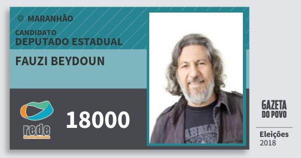 Santinho Fauzi Beydoun 18000 (REDE) Deputado Estadual | Maranhão | Eleições 2018