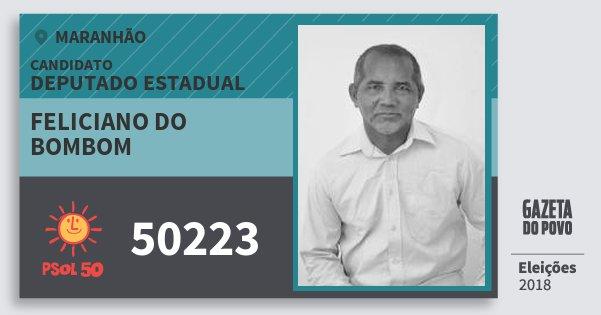 Santinho Feliciano do Bombom 50223 (PSOL) Deputado Estadual | Maranhão | Eleições 2018