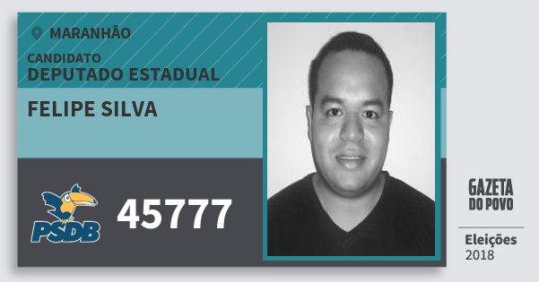 Santinho Felipe Silva 45777 (PSDB) Deputado Estadual | Maranhão | Eleições 2018