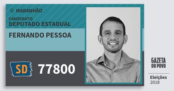 Santinho Fernando Pessoa 77800 (SOLIDARIEDADE) Deputado Estadual | Maranhão | Eleições 2018