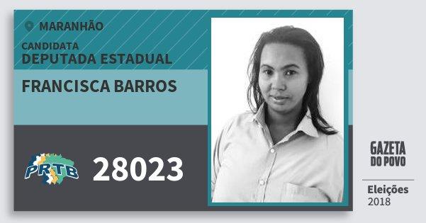 Santinho Francisca Barros 28023 (PRTB) Deputada Estadual | Maranhão | Eleições 2018
