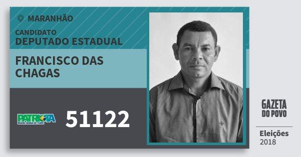 Santinho Francisco das Chagas 51122 (PATRI) Deputado Estadual | Maranhão | Eleições 2018