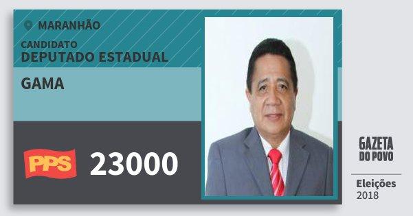 Santinho Gama 23000 (PPS) Deputado Estadual | Maranhão | Eleições 2018