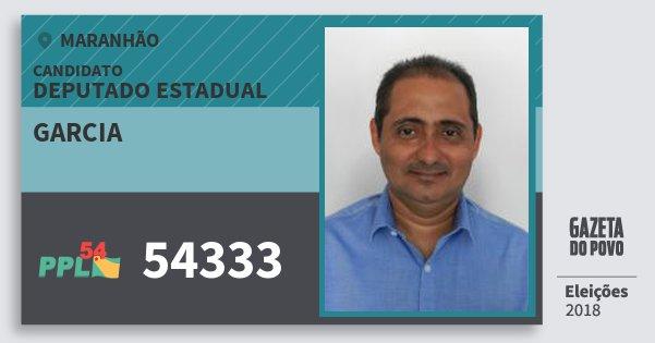 Santinho Garcia 54333 (PPL) Deputado Estadual | Maranhão | Eleições 2018