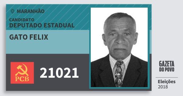 Santinho Gato Felix 21021 (PCB) Deputado Estadual | Maranhão | Eleições 2018