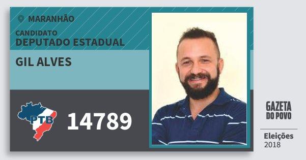 Santinho Gil Alves 14789 (PTB) Deputado Estadual | Maranhão | Eleições 2018