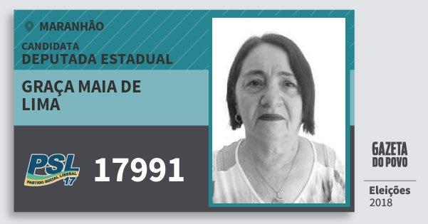 Santinho Graça Maia de Lima 17991 (PSL) Deputada Estadual | Maranhão | Eleições 2018
