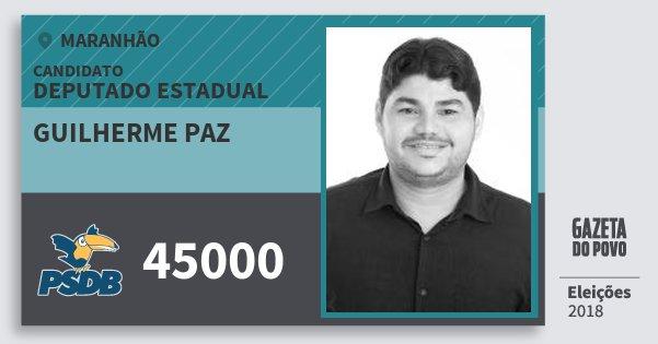 Santinho Guilherme Paz 45000 (PSDB) Deputado Estadual | Maranhão | Eleições 2018