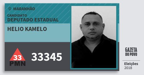Santinho Helio Kamelo 33345 (PMN) Deputado Estadual | Maranhão | Eleições 2018