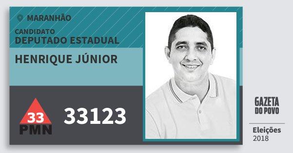 Santinho Henrique Júnior 33123 (PMN) Deputado Estadual | Maranhão | Eleições 2018