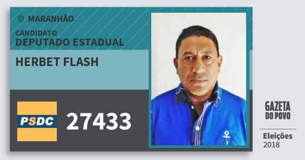 Santinho Herbet Flash 27433 (DC) Deputado Estadual | Maranhão | Eleições 2018