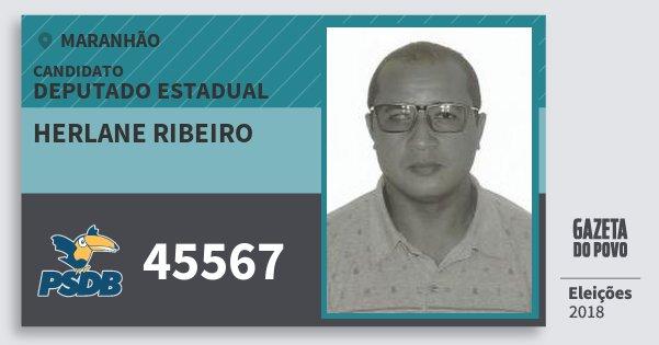 Santinho Herlane Ribeiro 45567 (PSDB) Deputado Estadual | Maranhão | Eleições 2018