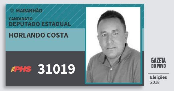 Santinho Horlando Costa 31019 (PHS) Deputado Estadual | Maranhão | Eleições 2018