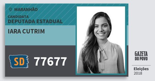 Santinho Iara Cutrim 77677 (SOLIDARIEDADE) Deputada Estadual   Maranhão   Eleições 2018