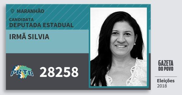 Santinho Irmã Silvia 28258 (PRTB) Deputada Estadual | Maranhão | Eleições 2018