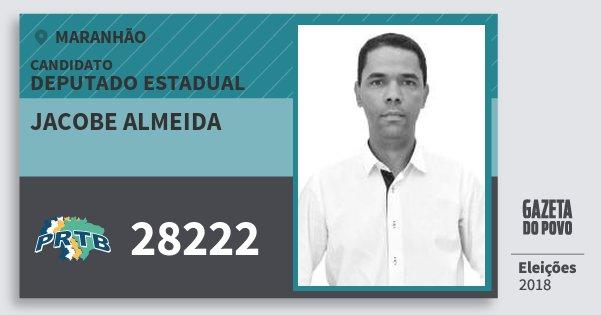 Santinho Jacobe Almeida 28222 (PRTB) Deputado Estadual | Maranhão | Eleições 2018