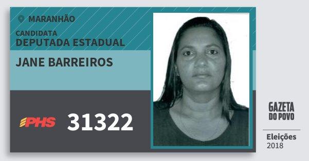 Santinho Jane Barreiros 31322 (PHS) Deputada Estadual | Maranhão | Eleições 2018