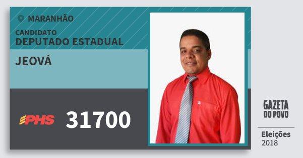 Santinho Jeová 31700 (PHS) Deputado Estadual | Maranhão | Eleições 2018