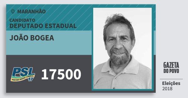 Santinho João Bogea 17500 (PSL) Deputado Estadual | Maranhão | Eleições 2018