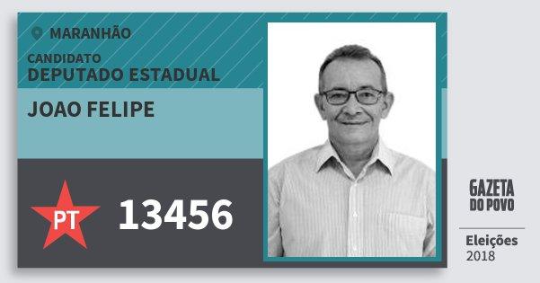 Santinho Joao Felipe 13456 (PT) Deputado Estadual | Maranhão | Eleições 2018