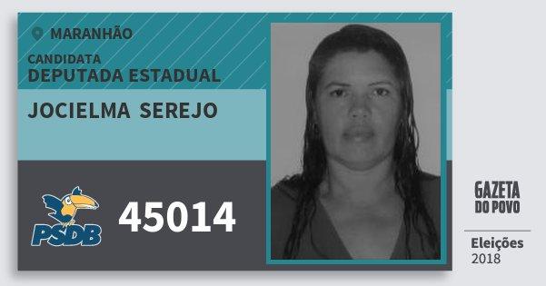 Santinho Jocielma  Serejo 45014 (PSDB) Deputada Estadual | Maranhão | Eleições 2018