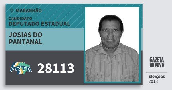 Santinho Josias do Pantanal 28113 (PRTB) Deputado Estadual | Maranhão | Eleições 2018