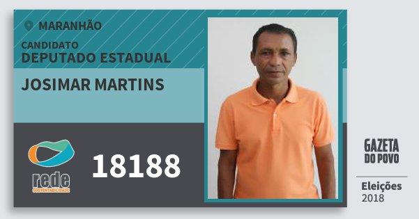 Santinho Josimar Martins 18188 (REDE) Deputado Estadual | Maranhão | Eleições 2018