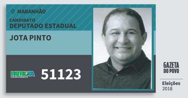 Santinho Jota Pinto 51123 (PATRI) Deputado Estadual | Maranhão | Eleições 2018