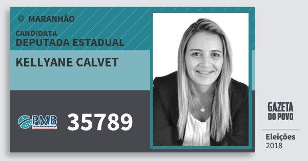 Santinho Kellyane Calvet 35789 (PMB) Deputada Estadual | Maranhão | Eleições 2018