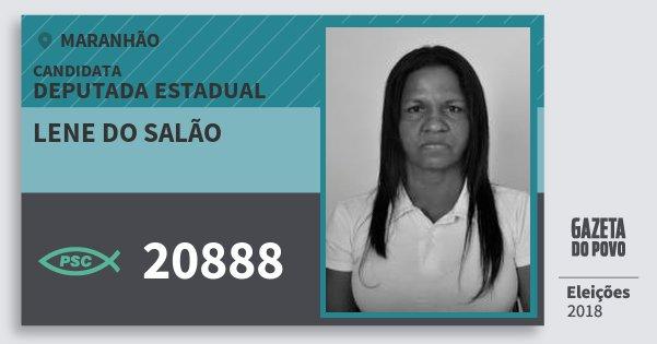 Santinho Lene do Salão 20888 (PSC) Deputada Estadual | Maranhão | Eleições 2018